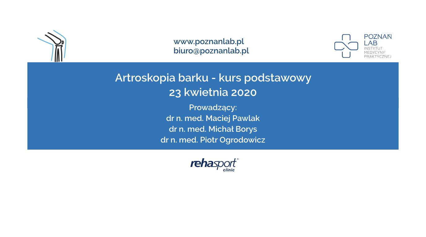 Artroskopia barku – kurs podstawowy