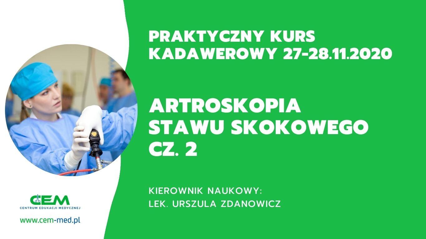 Artroskopia stawu skokowego cz. 2